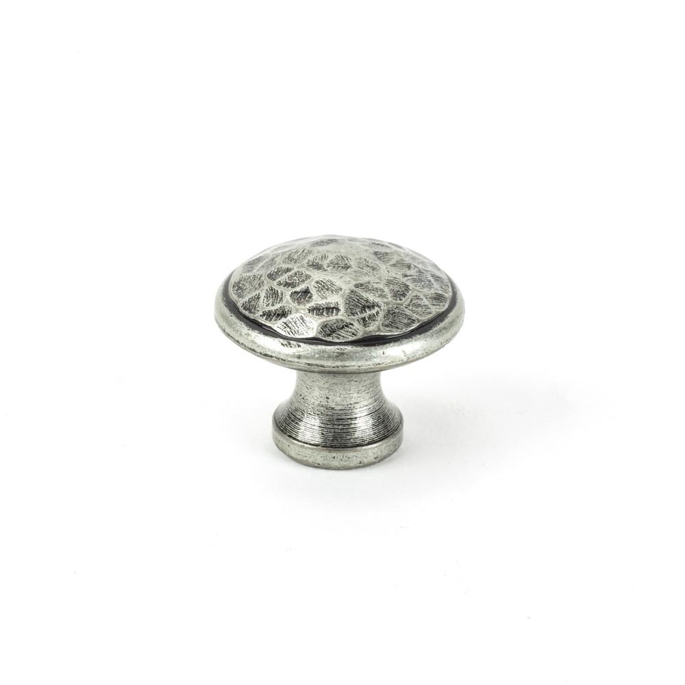 Pewter Hammered Cabinet Knob - Medium