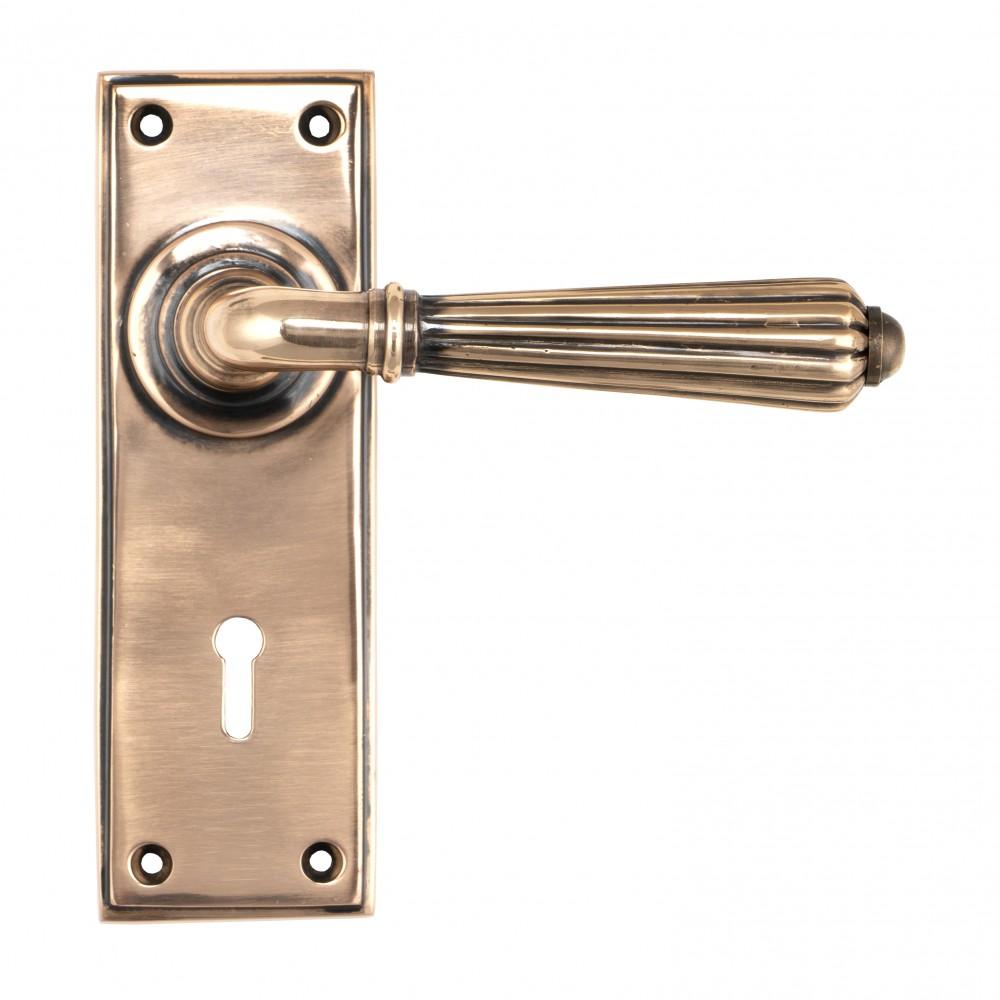 Polished Bronze Hinton Lever Lock Set