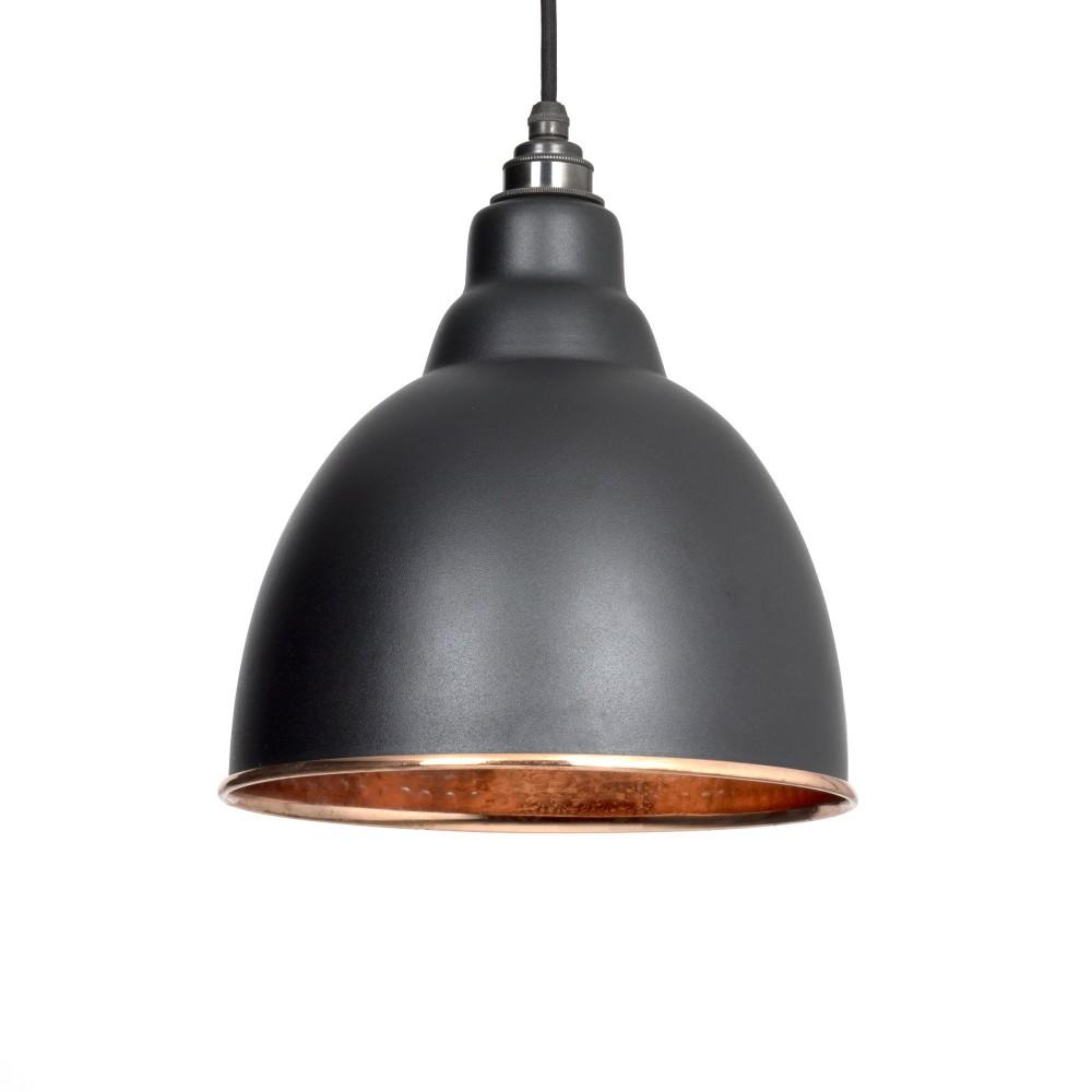 Black & Hammered Copper Brindley Pendant
