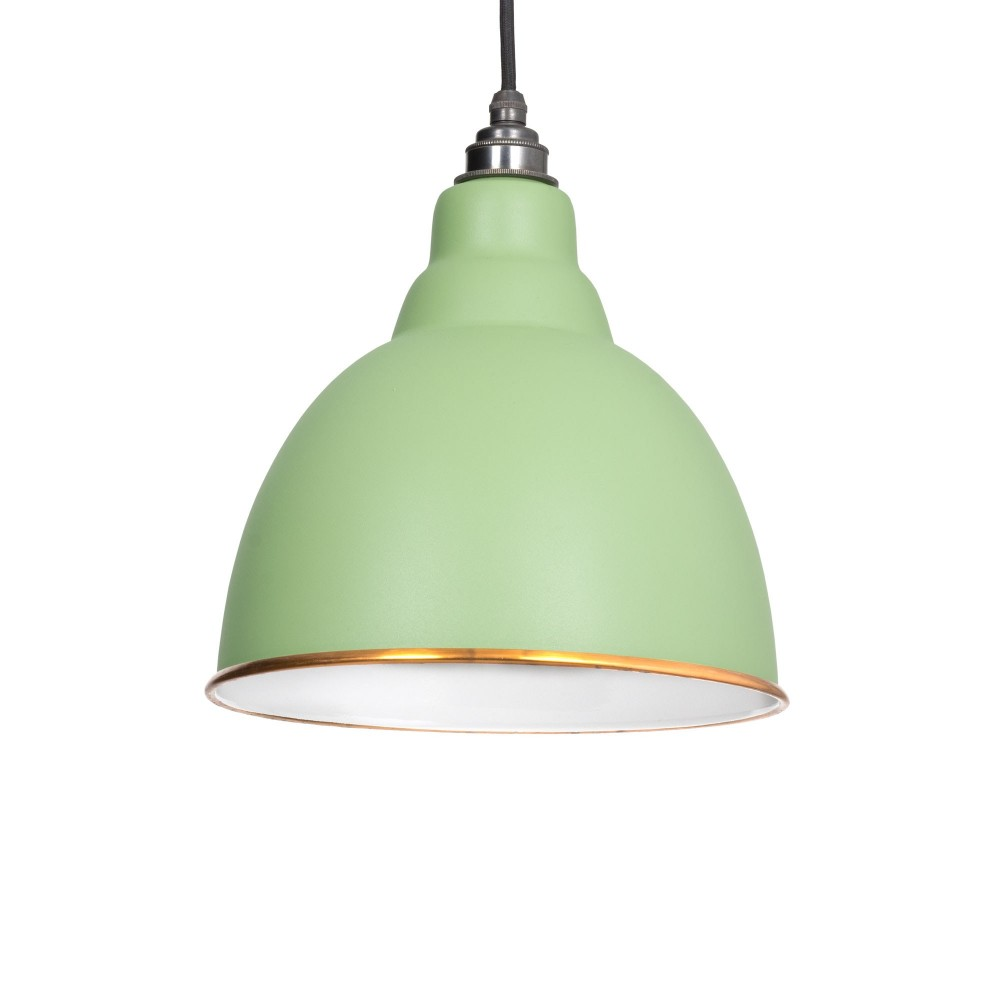 Sage Green & White Interior Brindley Pendant
