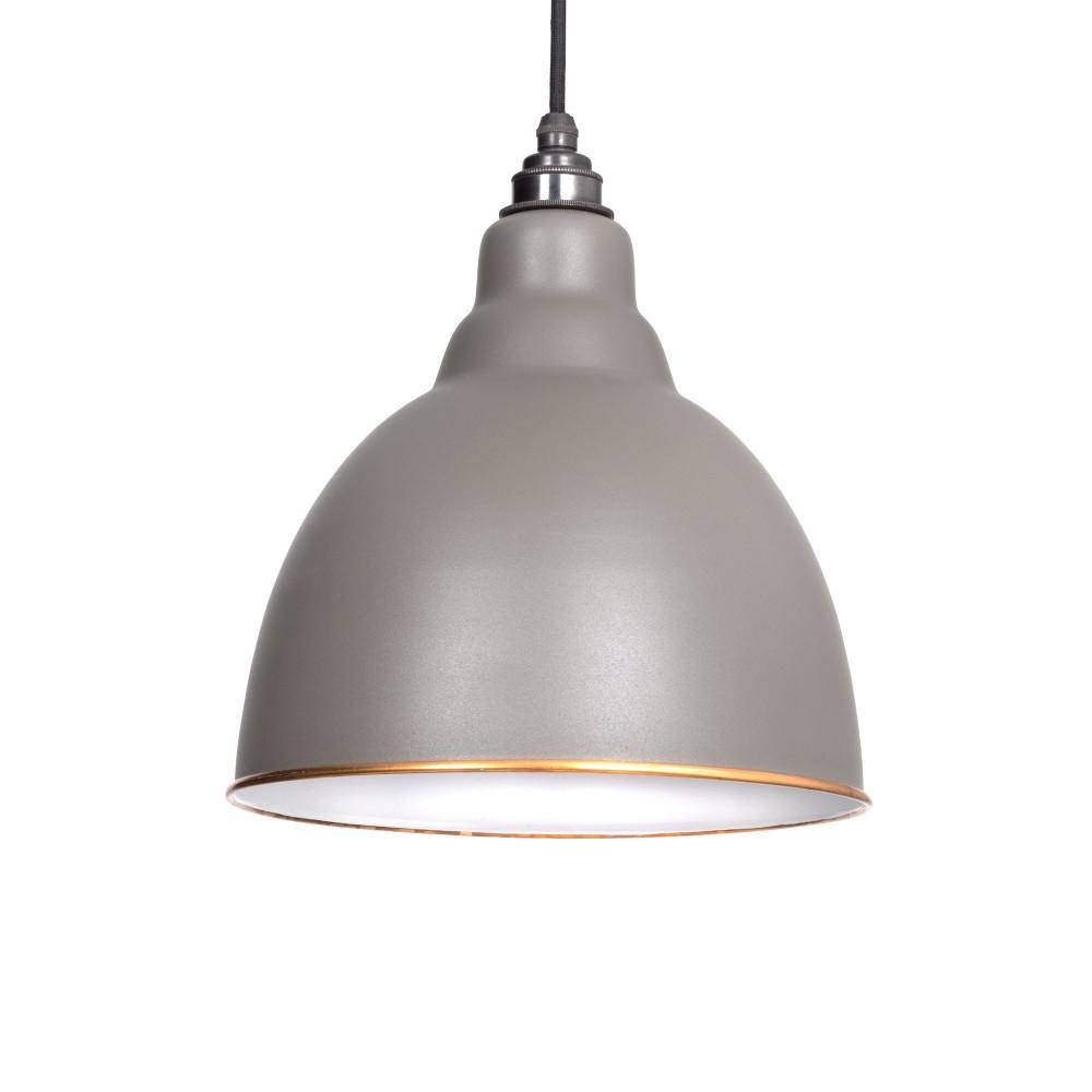 Warm Grey & White Interior Brindley Pendant