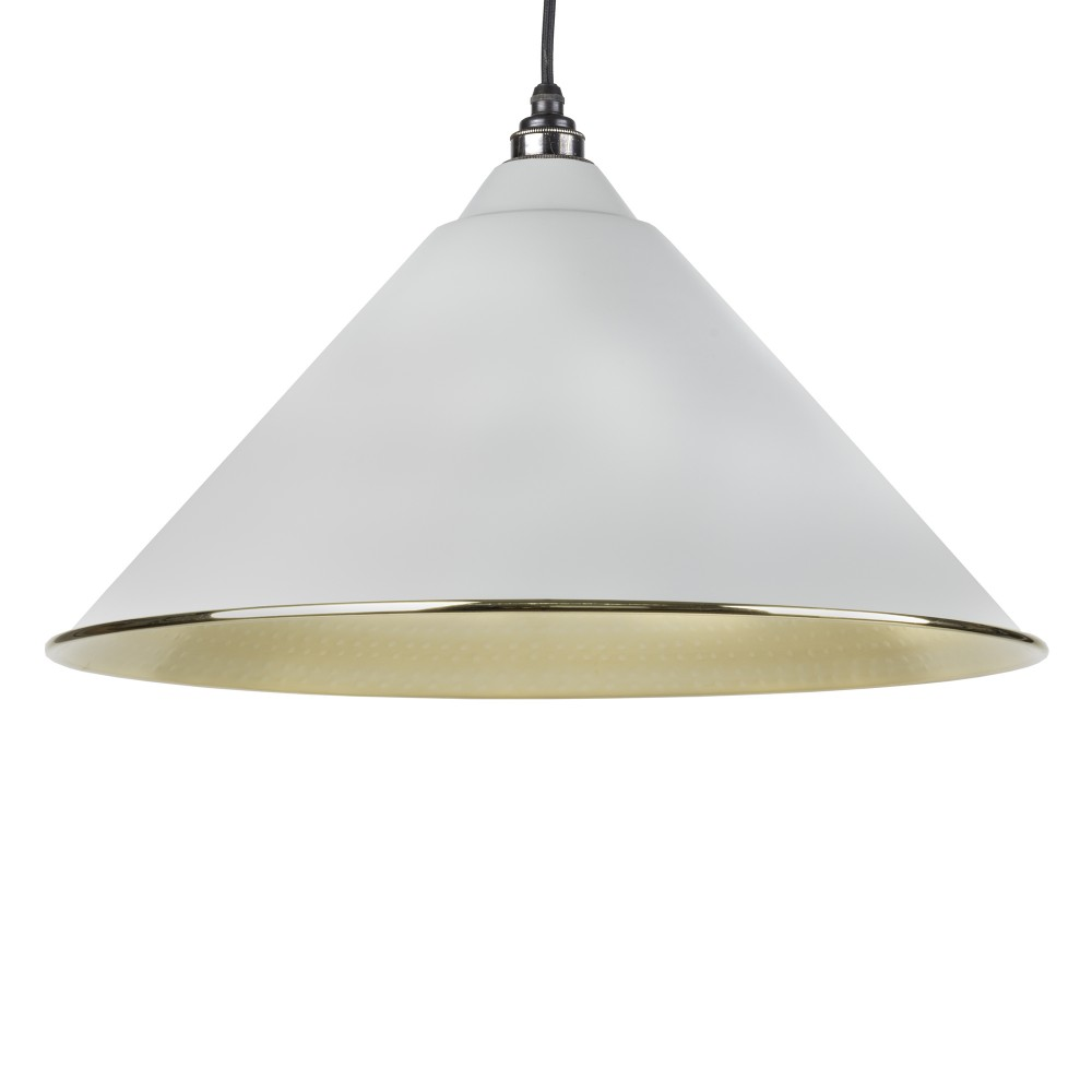 Light Grey Hammered Brass Hockley Pendant