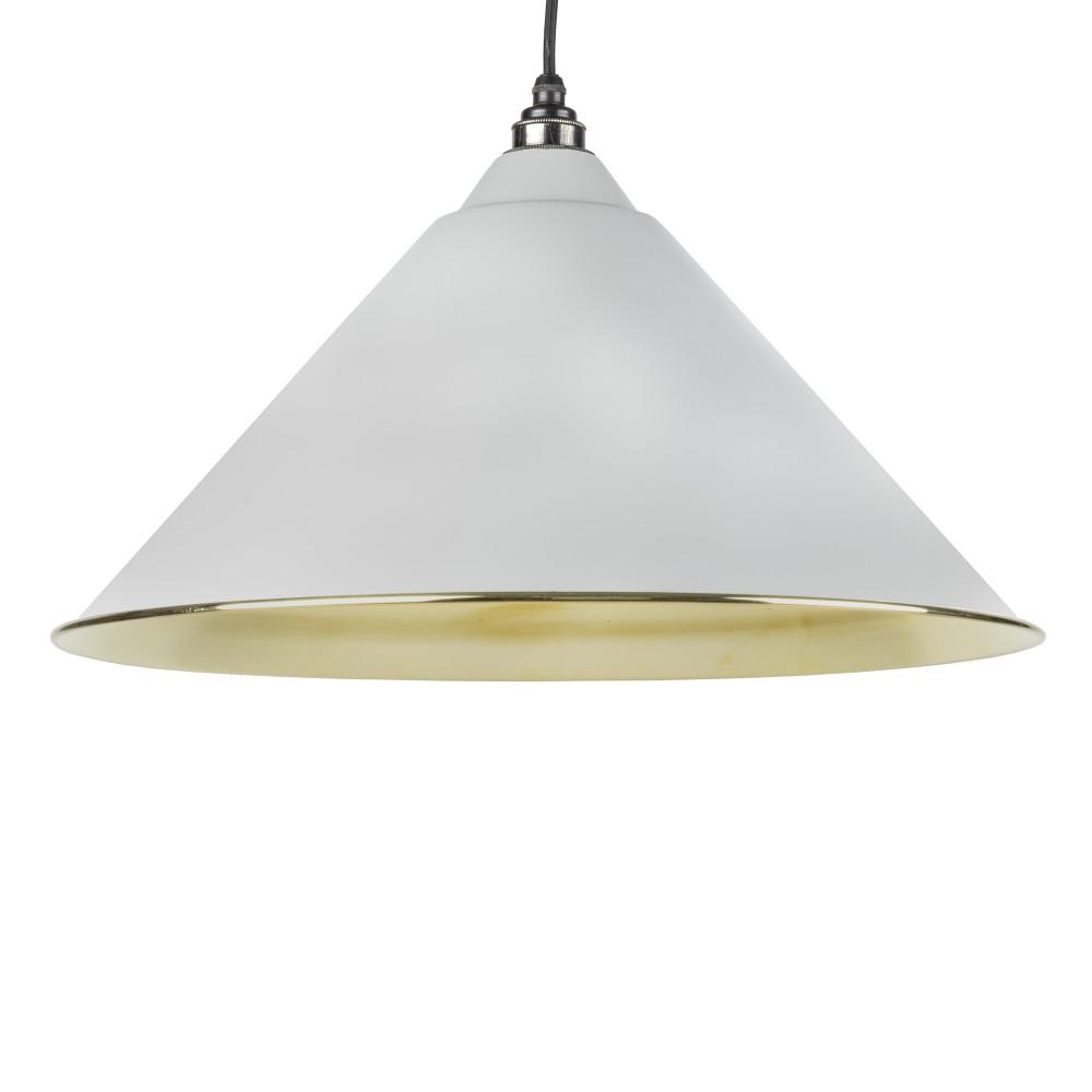Light Grey Smooth Brass Hockley Pendant