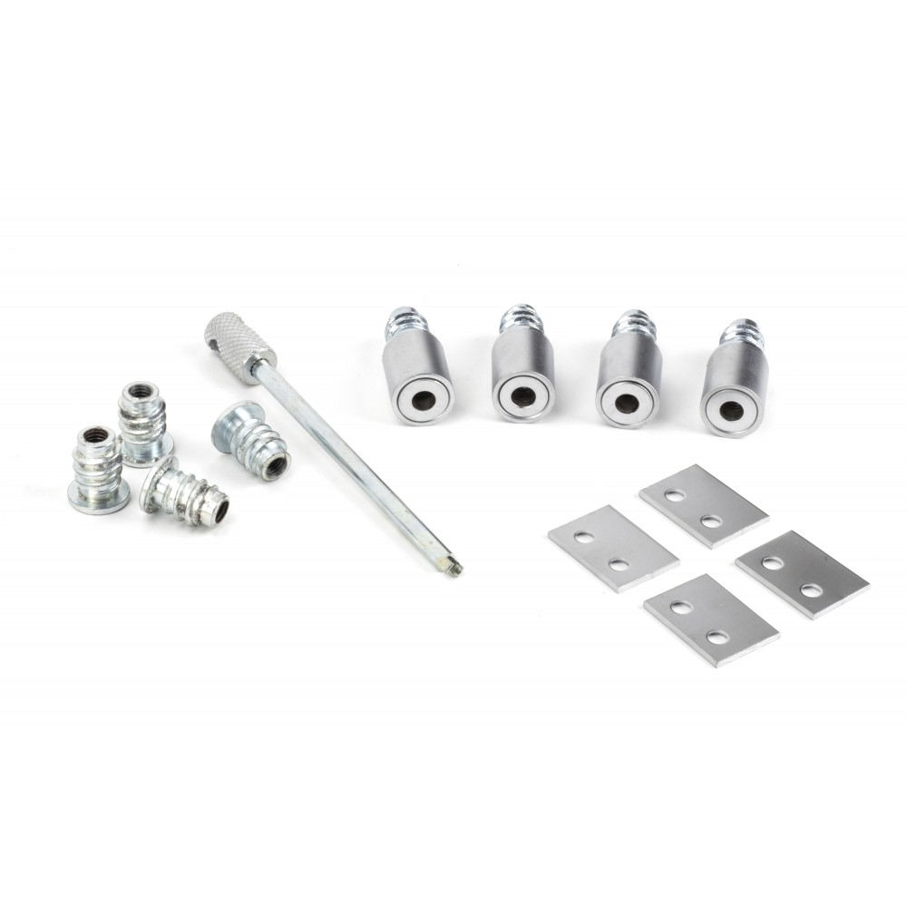 Satin Chrome Secure Stops (Pack of 4)