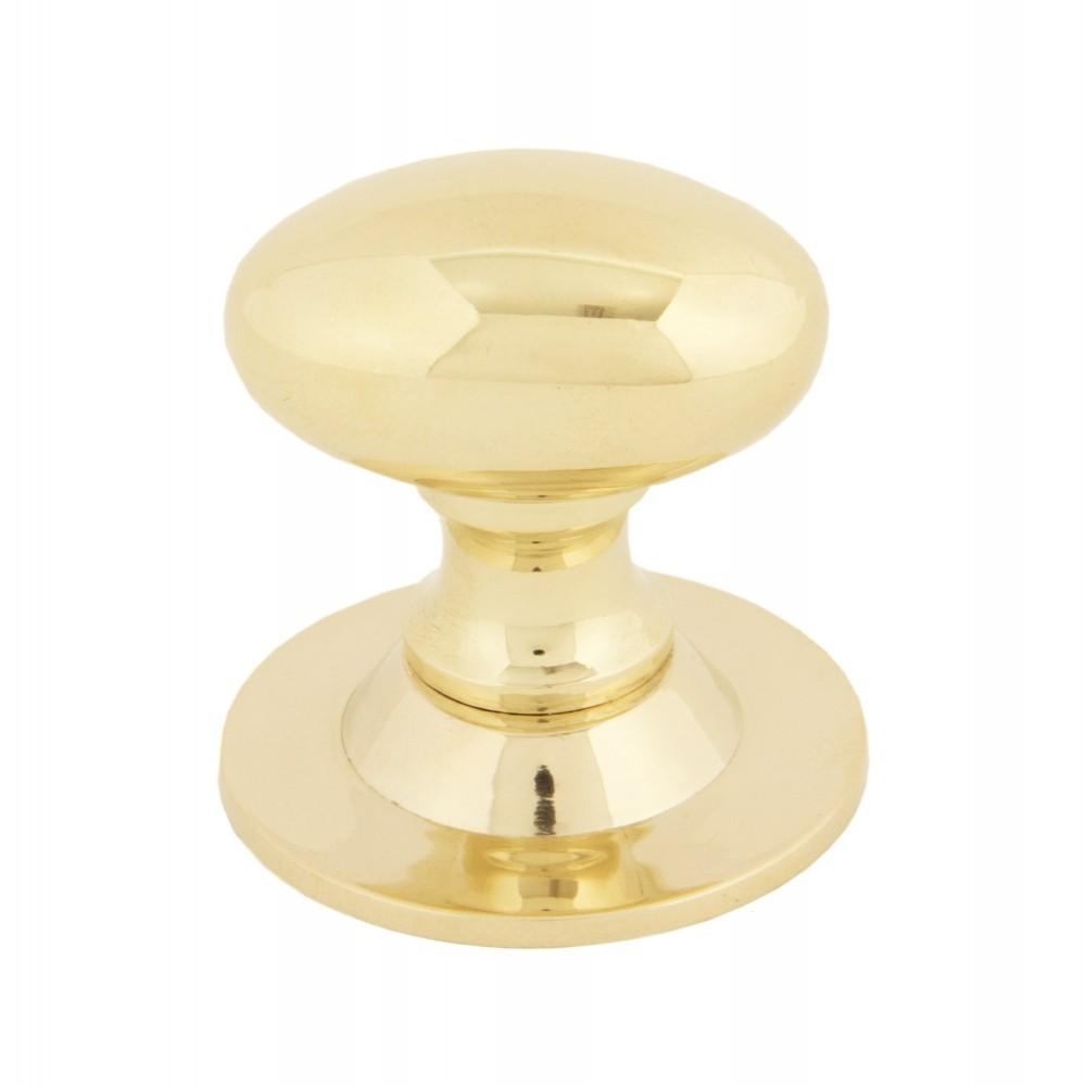 Polished Brass Oval Cabinet Knob - Small