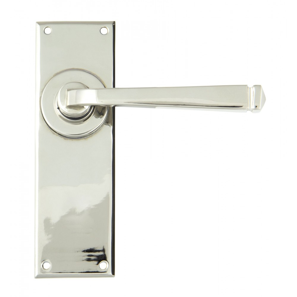 Polished Nickel Avon Lever Latch Set