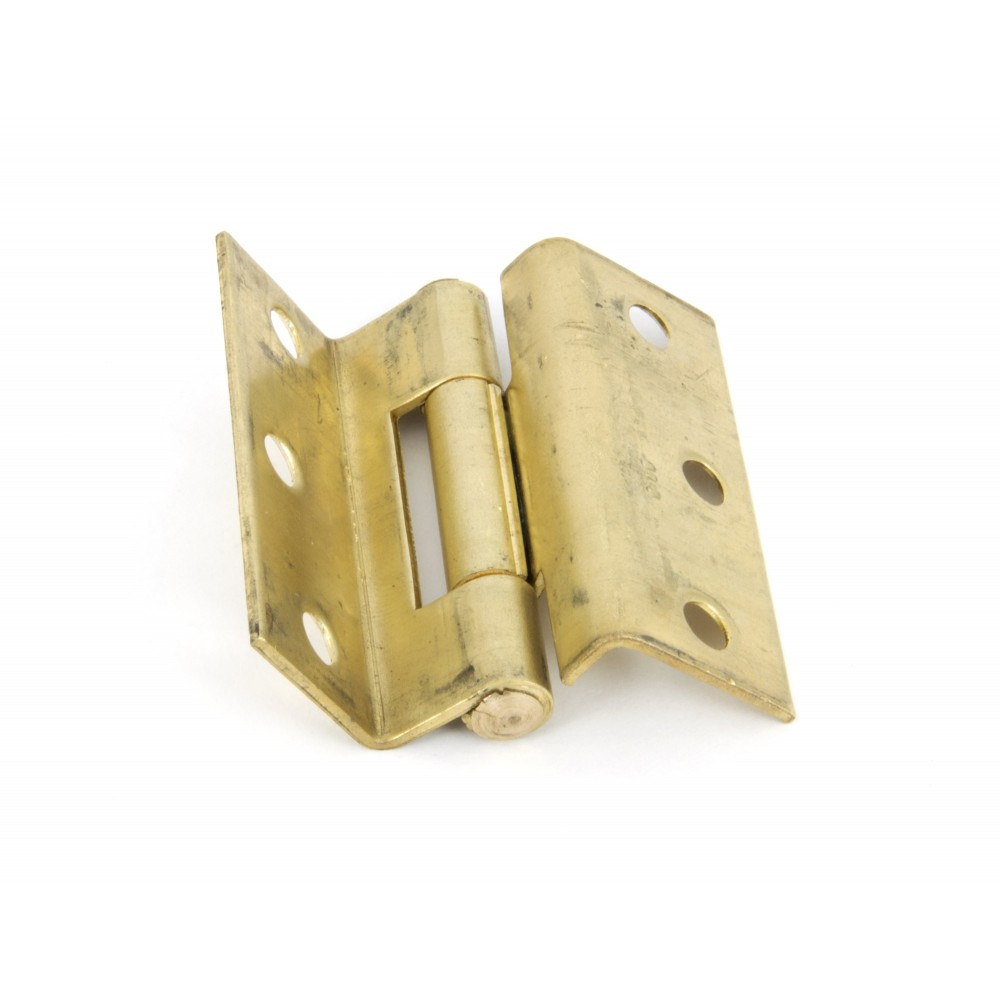 "Self  Coloured Brass 2.5"" Stormproof Hinges (pair)"