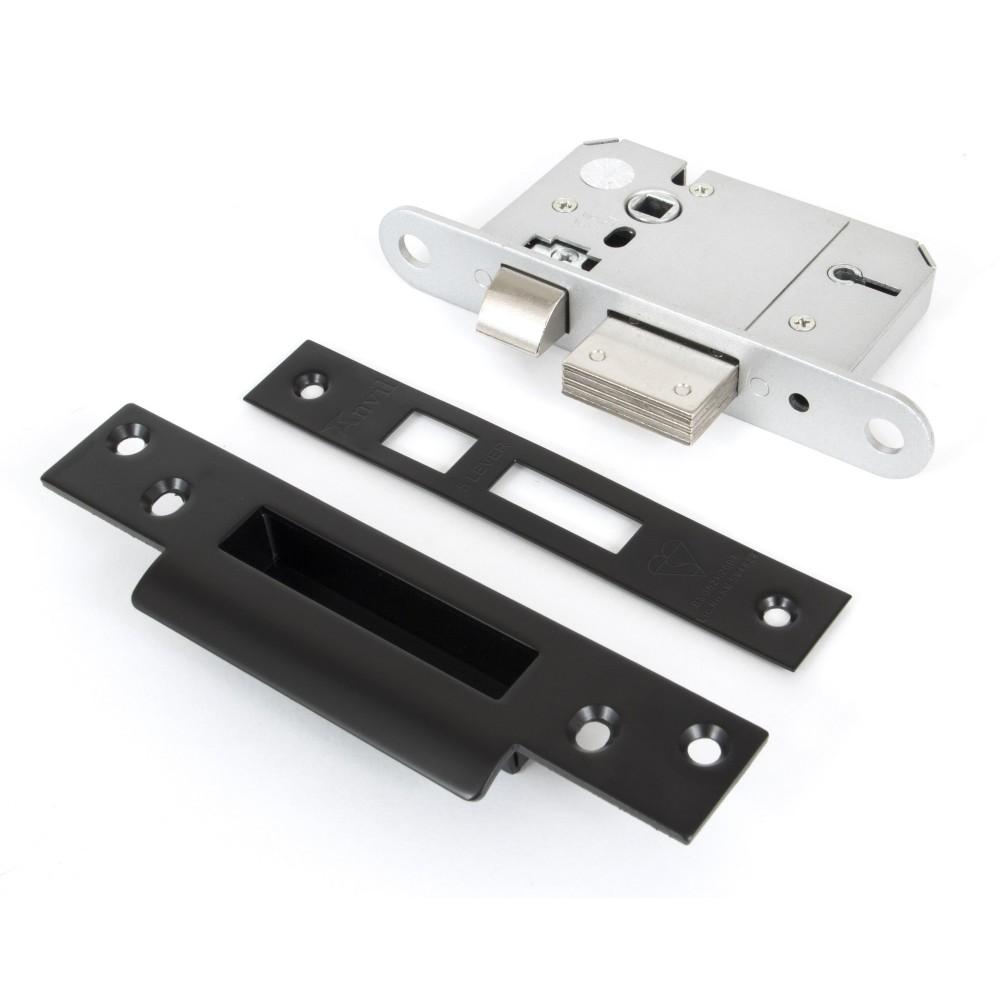 "Black 2½"" 5 Lever BS Sash Lock"