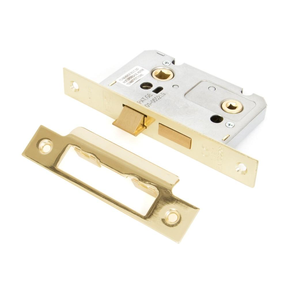"""Electro Brass 2 1/2"""" Bathroom Mortice Lock"""
