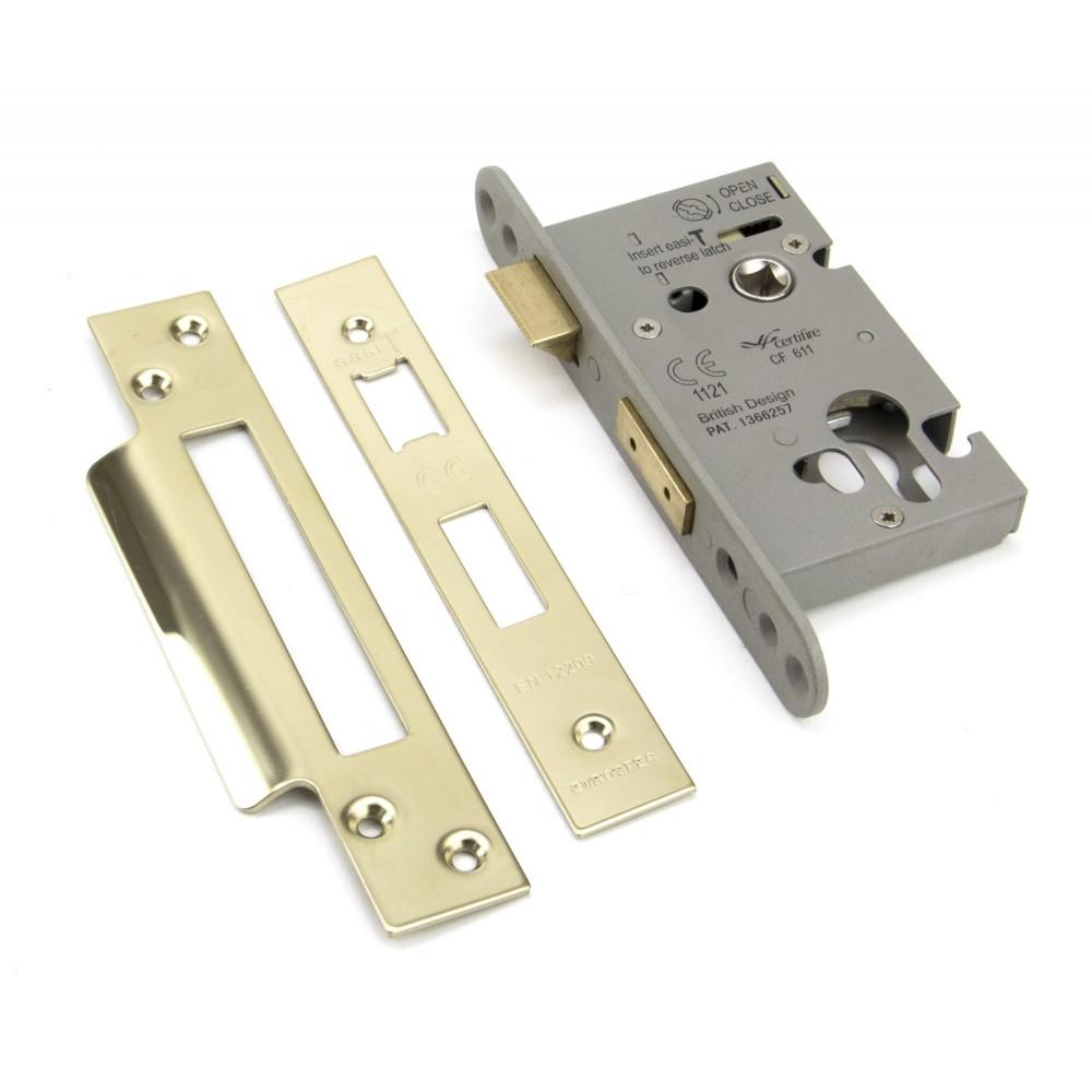 "PVD 2½"" Euro Profile Sash Lock"