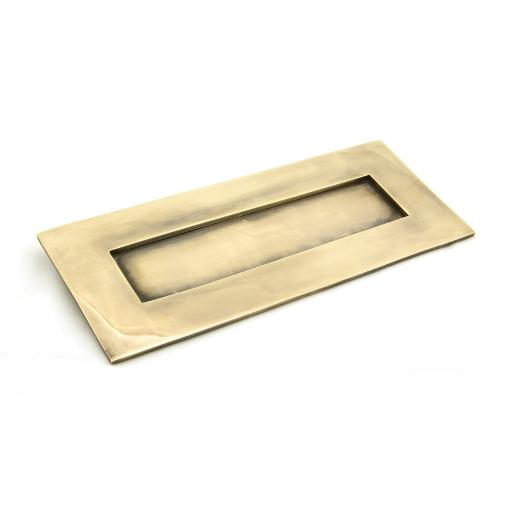 Aged Brass Small Letter Plate