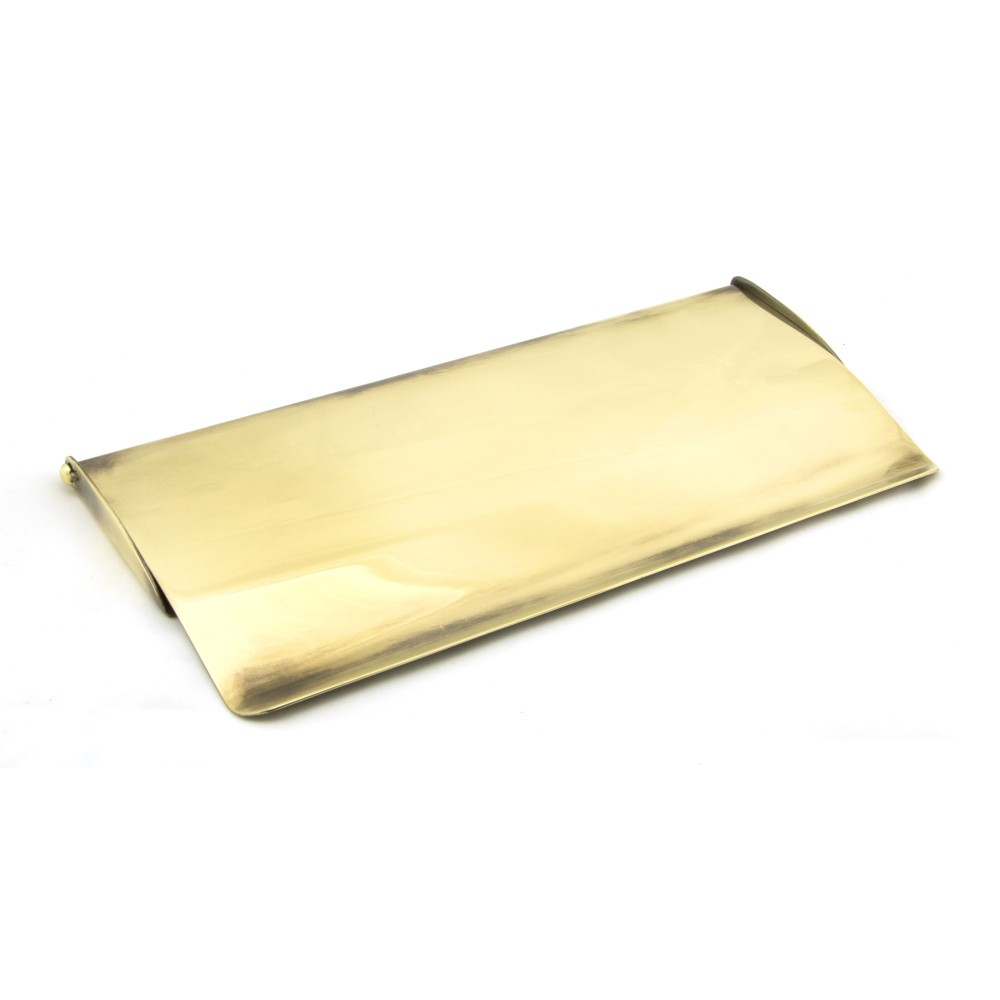 Aged Brass Small Letter Plate Cover