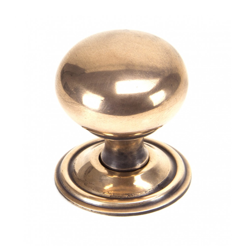 Polished Bronze Mushroom Cabinet Knob - Large