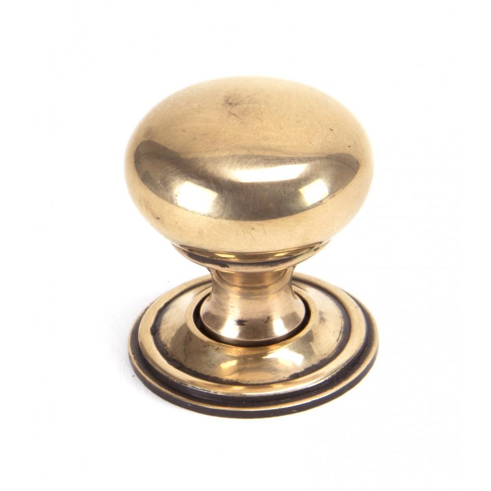 Polished Bronze Mushroom Cabinet Knob - Small