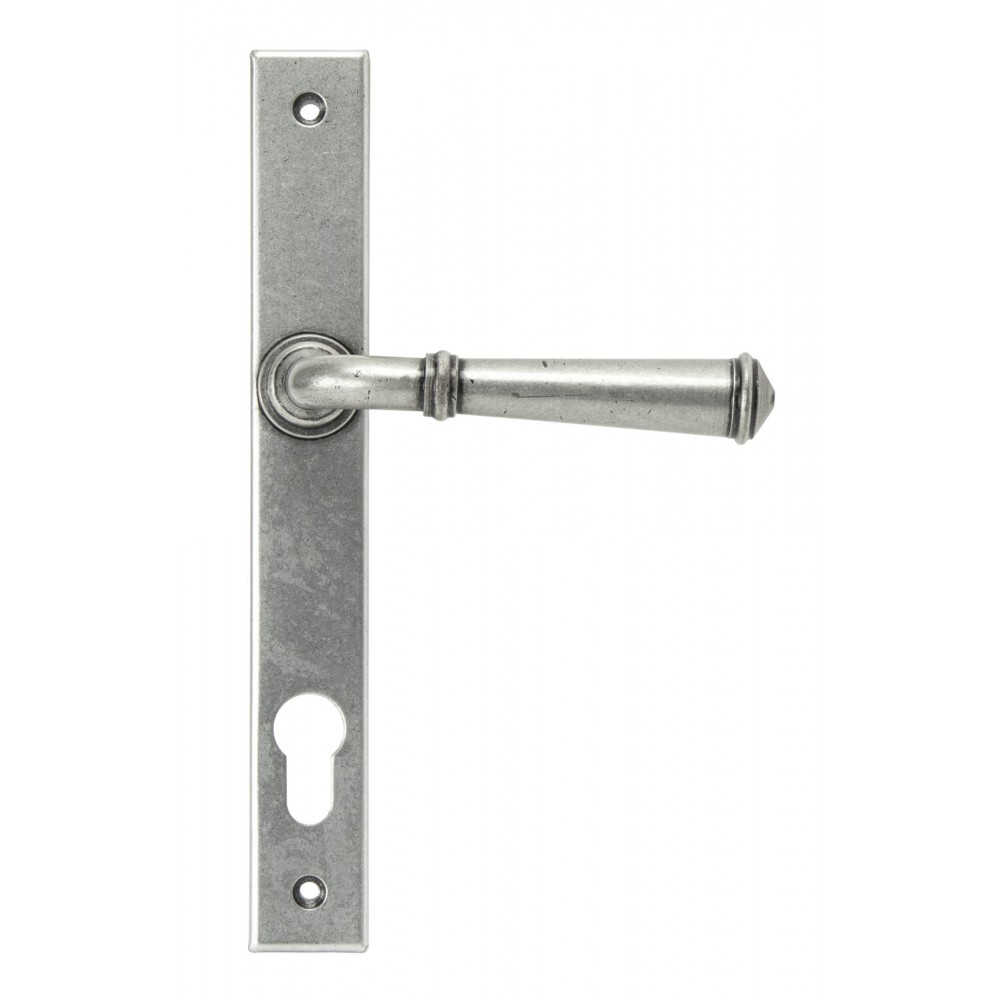 Pewter Regency Slimline Lever Espag Lock Set