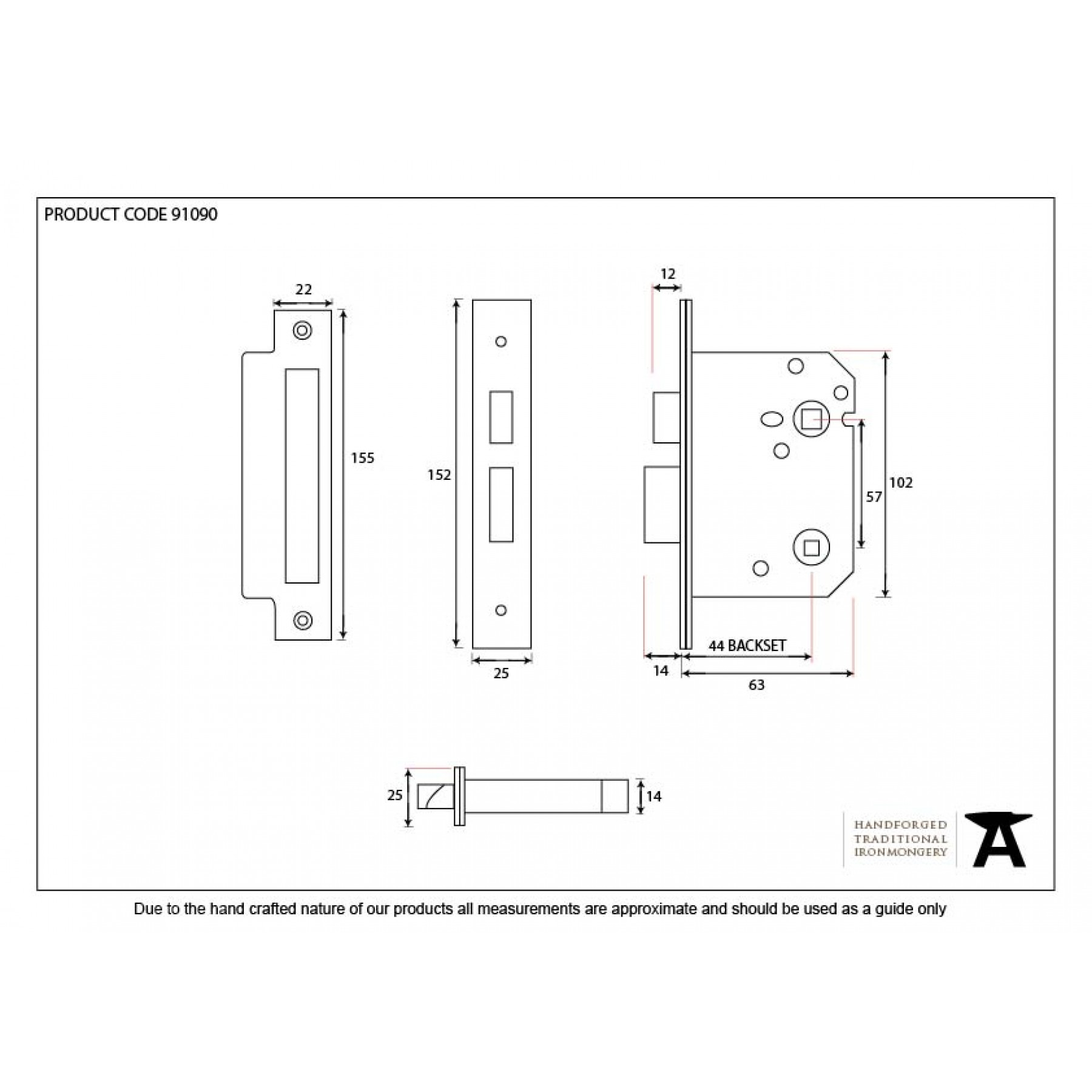 Nickel 2 1/2'' Bathroom Mortice Lock - Standard Lock - For ...