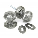 Pewter Patina Octagonal Mortice/Rim Knob Set