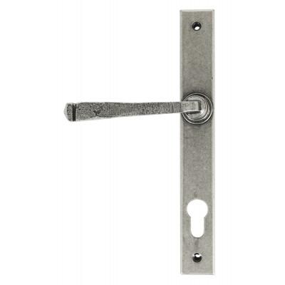 Avon Slimline Lever Espag. Lock Set - Pewter Patina