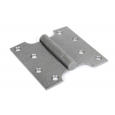 "Pewter 4"" x 2'' x 4"" Ball Bearing Parliament Hinge (pair)"
