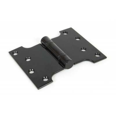 "Black 4'' x 3"" x 5"" Ball Bearing Parliament Hinge (pair)"