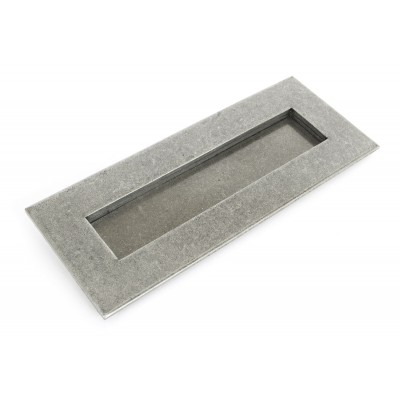 Pewter Small Letter Plate