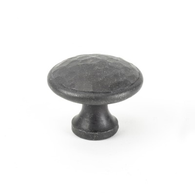 Beeswax Hammered Cabinet Knob - Large