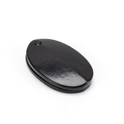 Black Oval Escutcheon & Cover