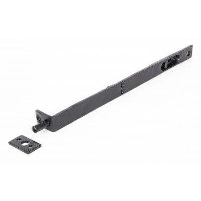 "Black 12"" Flush/Slide Door Bolt"