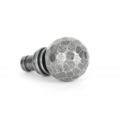 Pewter Hammered Ball Curtain Finial (pair)