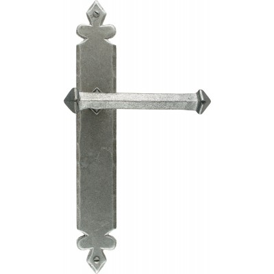 Pewter Tudor Lever Latch Set