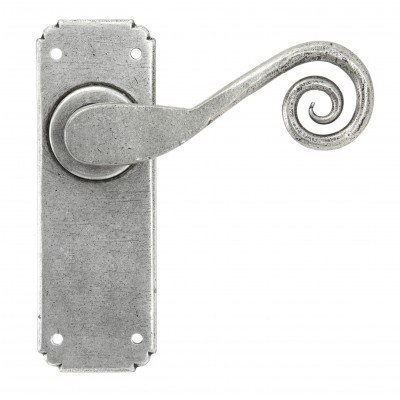 Pewter Monkeytail Sprung Lever Latch Set