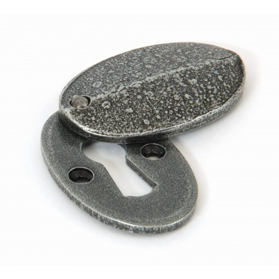Pewter Oval Escutcheon & Cover