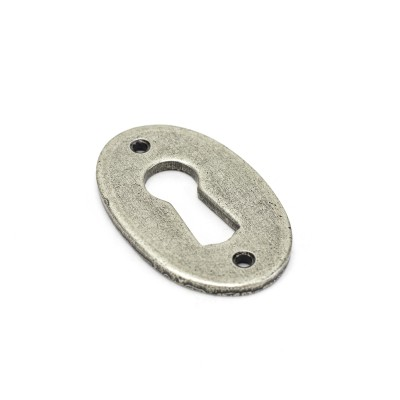 Pewter Oval Escutcheon