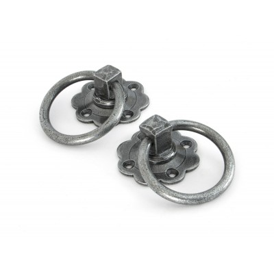Pewter Ring Turn Handle Set