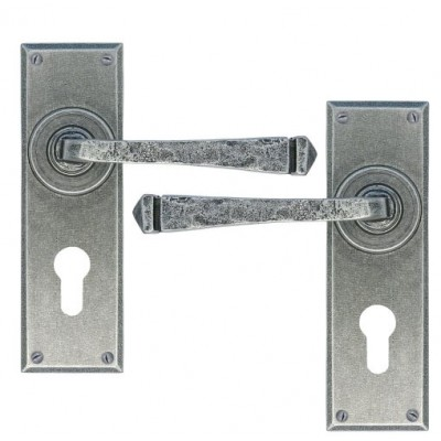 Pewter Avon Lever Euro Lock Set