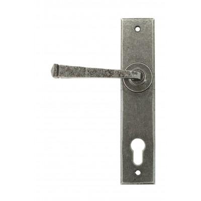 Pewter Avon Lever Espag. Lock Set