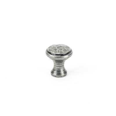 Pewter Hammered Cabinet Knob - Small