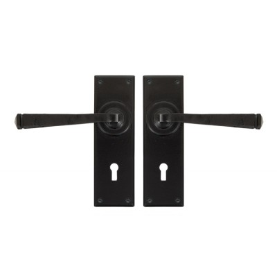 Black Avon Lever Lock Set