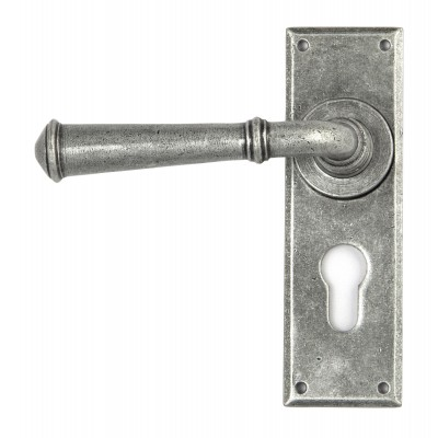 Pewter Regency Lever Euro Lock Set