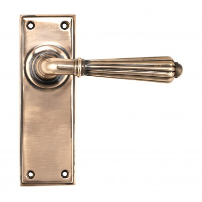 Polished Bronze Hinton Lever Latch Set
