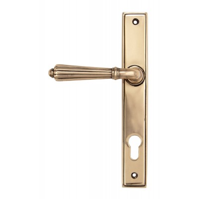 Polished Bronze Hinton Slimline Lever Espag. Lock Set