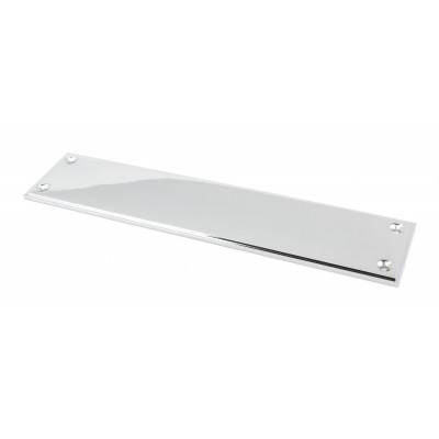 Polished Chrome 300mm Art Deco Fingerplate