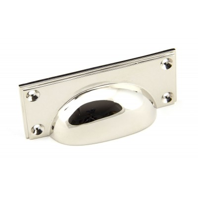 Polished Nickel Art Deco Drawer Pull