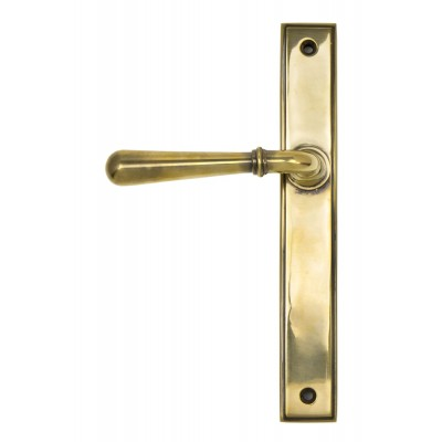 Aged Brass Newbury Slimline Lever Latch Set