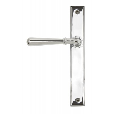 Polished Chrome Newbury Slimline Lever Latch Set