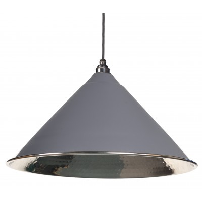 Dark Grey Hammered Nickel Hockley Pendant