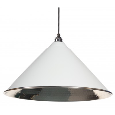 Light Grey Hammered Nickel Hockley Pendant