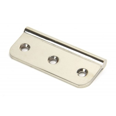 Polished Nickel 75mm Dummy Butt Hinge