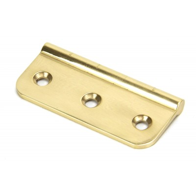 Polished Brass 75mm Dummy Butt Hinge
