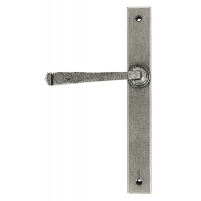 Pewter Avon Slimline Lever Latch Set